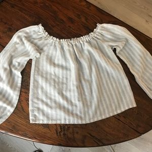 Off the shoulders striped Brandy top